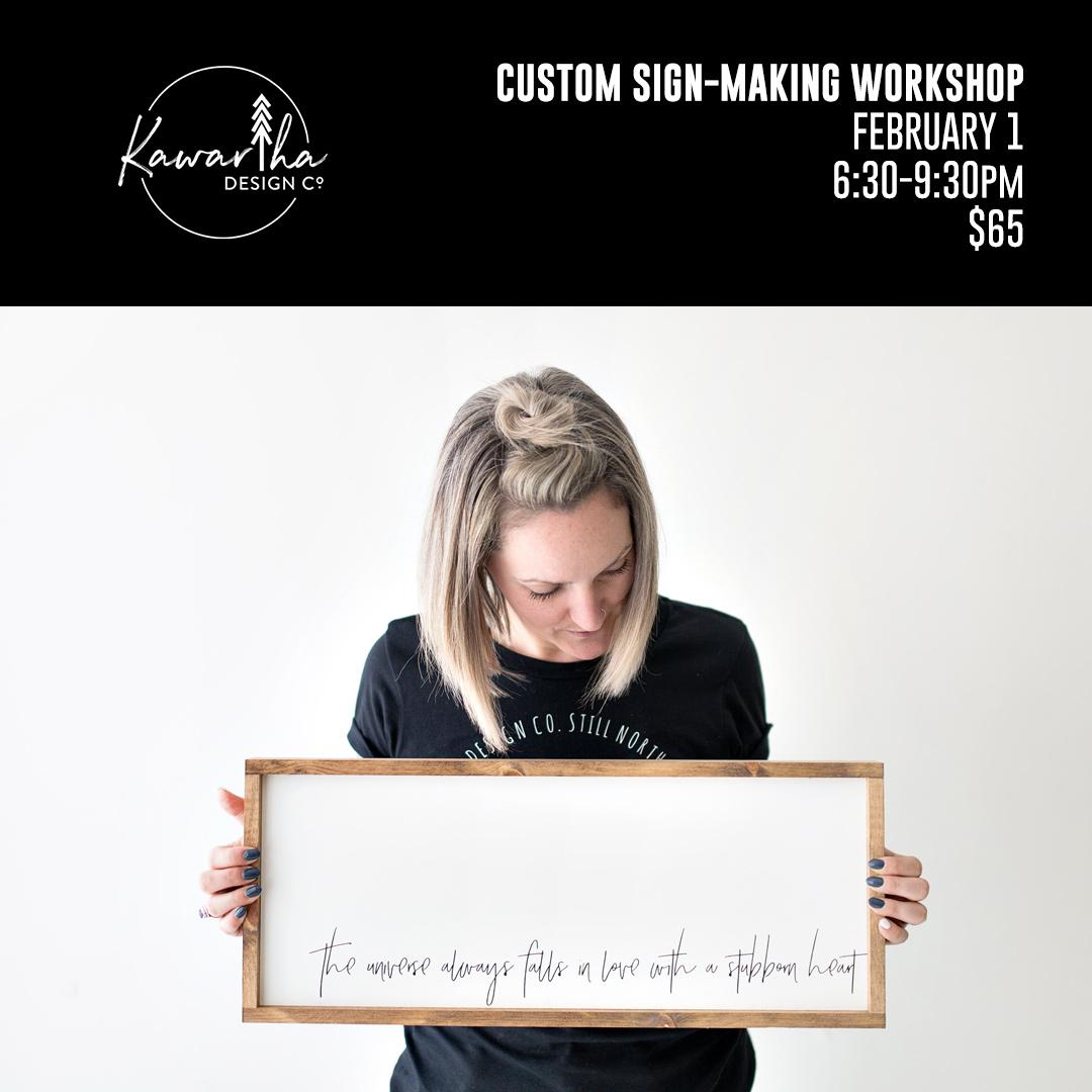 Kawartha Design Co Sign-Making Workshop
